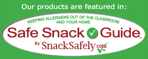 Safe Snack Guide Badge - Keeping allergens out of the classroom and your home.